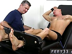 Male footjob movietures gay Cristian Tickled In The Tickle Chair