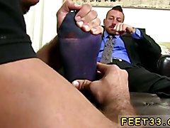 Gay ass and feet Hugh Hunter Worshiped Until He Cums