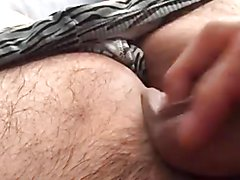 Small cock wake up and played with grows