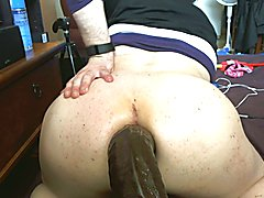 Str8 guy training for anal with BBC
