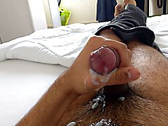 Me cumming twice in 5 minutes. Extremely hard cock.