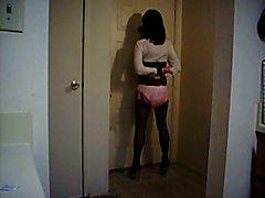Sissy In Schoolgirl Uniform Cocksucking Tranining 2