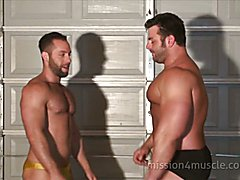 Muscle hunks assfucking sensually