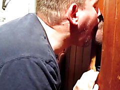 Look at the great tongue work at the homemade glory hole
