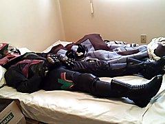 Girly Leather Bike Gear, Smelly sock in helmet, sneakers.