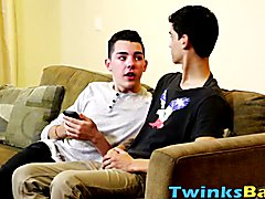 The tight twink Holden Ross is addicted to a cock in his ass