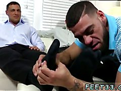 Guy in g string gay porn image Ricky Worships Johnny & Joey's Feet