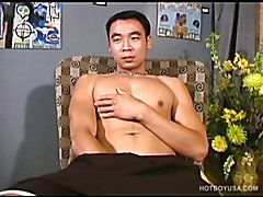 American Asian Boy Kai Jacking Off