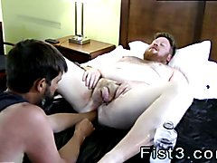 First boy gay sex movies Sky Works Brock's Hole with his Fist