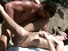 Twink Papis on Hardcore Anal Sex by the Beach
