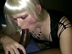 Sissies lose pride and suck BBC during party