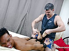Kinky Asian twink Jordan is watching a gay porn video