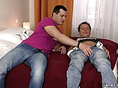 Gay homosexual seduces him with easily