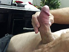 Mutual big cock stroking