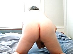Boy spreads his ass and finally wanks and cums