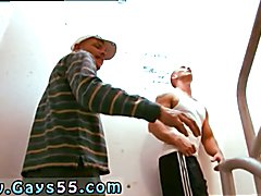 Guy nude in public gay Tristan and John Magnum got it on in the staircase of an office
