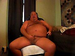 chubby daddy bear likes cum