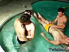Male twins gay sex scene Undie 4-Way - Hot Tub Action