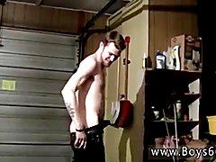 Arab gay twinks underwear Cowboys Ty & Lee Pissing Up the Garage!