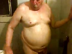 Uruguayan fat, with big ass, small cock and under the shower