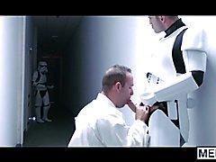 Luke Skywalker gets gangbanged and bathed in hot trooper cum