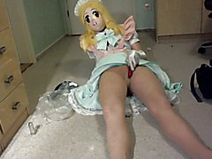 Kigurumi Maid Breathplay, Vibrator in panty