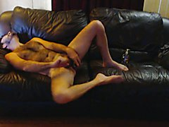 1st time dildo in my but ouch then Woweeeee