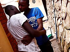 Black African twinks Paul and Peter find themselves