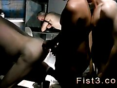 Man ass fisting 3gp and gay fist piss xxx One of the studs lubes up his fist, sinking it
