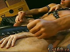 Fisted slave boy gay Rick gets it first, slow and deep.