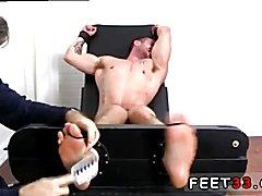 Casey More Jerked & Tickled Teenage boy shirtless feet
