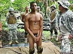 Soldier eats pussy vid gay Jungle poke fest