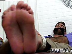 Young gays use feet Chase LaChance Tied Up, Gagged & Foot Worshiped