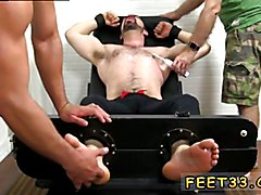 Guy butt and feet movies and young gay twinks feet sex movie Dolan Wolf Jerked & Tickled