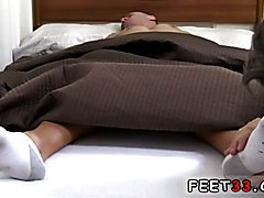 Tommy Gets Worshiped In His Sleep Gay white man dominates black foot slave Tommy Gets Worshi...