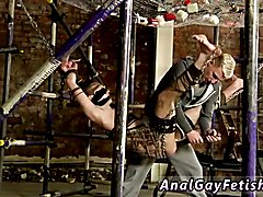 Muscular men in bondage  gay Shoving some hefty fucktoys into Milo, Reece gets his kicks