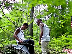 Hot partners love to fuck each other hard while in the woods  scene 2