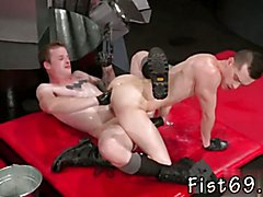 Gay bondage and fisting and licking cum sites Switching positions, Axel leans over and