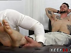 Gay extreme anal foot fisted boy and bloody gang bang porn movie KC's New Foot & Sock