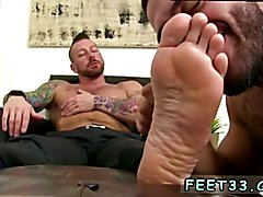Young straight boy feet gay first time Ricky Larkin is being interviewed for a stance as