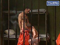 HUNKY PRISONERS SPIT ROAST BEHIND BARS