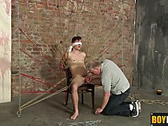 Sebastian getting to jerk Jonah while being bound and cuffed  scene 2