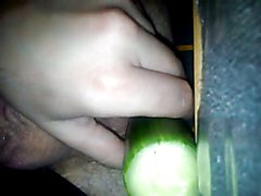Me enjoing with cucumber