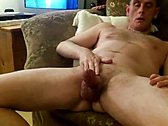 beefy veiny cock puts on a show