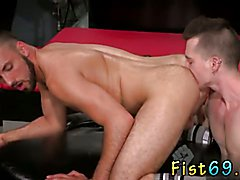 Extra fisting gay Aiden Woods is on his back and squeals to Axel Abysse, 'fuck my mouth,