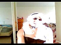 Blonde with black lingerie - Veronica Mendez