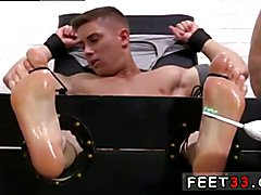 Free gay feet video and young boys foot fetish Sebastian Tied Up & Tickled