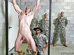 Asian army naked gay man first time Good Anal Training