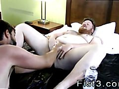 Gay man cum in mouth extreme cock video Sky Works Brock's Hole with his Fist