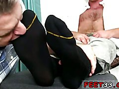 Xxx mens feet and gay thug sucking toes porn Connor loves to have his socks worshiped &